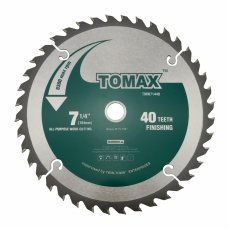 TOMAX 7-1/4-Inch 40 Tooth ATB Finishing Saw Blade with 5/8-Inch DMK Arbor