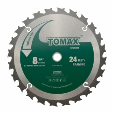 TOMAX 8-1/4-Inch 24 Tooth ATB Framing Saw Blade with 5/8-Inch DMK Arbor