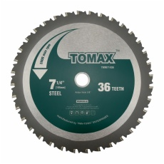 TOMAX 7-1/4-Inch 36 Tooth TCG Steel and Ferrous metal Saw Blade with 5/8-Inch DMK Arbor