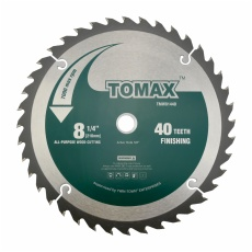 TOMAX 8-1/4-Inch 40 Tooth ATB Finishing Saw Blade with 5/8-Inch DMK Arbor