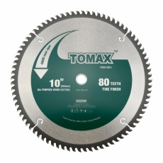 TOMAX 10-Inch 80 Tooth ATB Fine Finish Saw Blade with 5/8-Inch Arbor