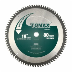 TOMAX 10-Inch 80 Tooth TCG Aluminum and Non-Ferrous Metal Saw Blade with 5/8-Inch Arbor